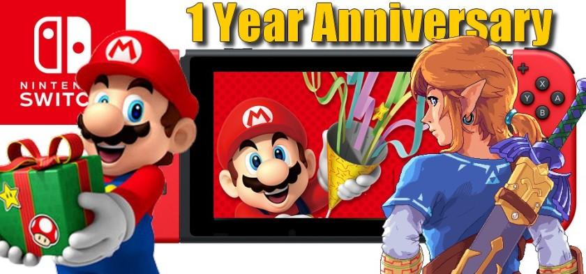 Nintendo Switch Aniversário de 1 ano - Mega Post