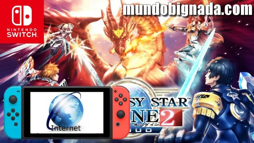Phantasy Star Online 2 Cloud na eShop japonesa e o Navegador de Internet Secreto do Switch - BIGNADA COMENTA
