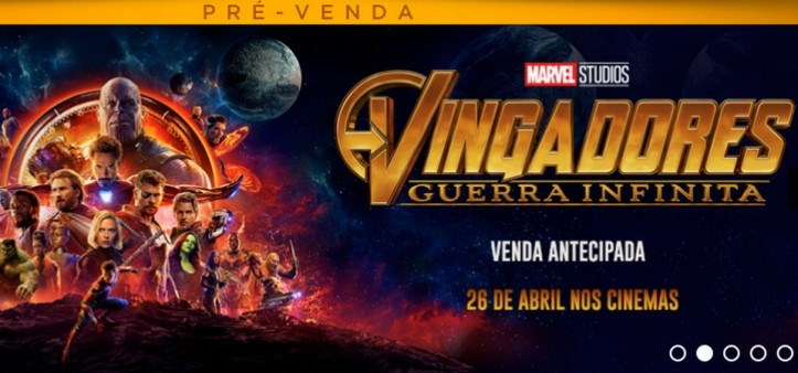 Pré-Venda de ingressos de Vingadores - Guerra Infinita começou hoje