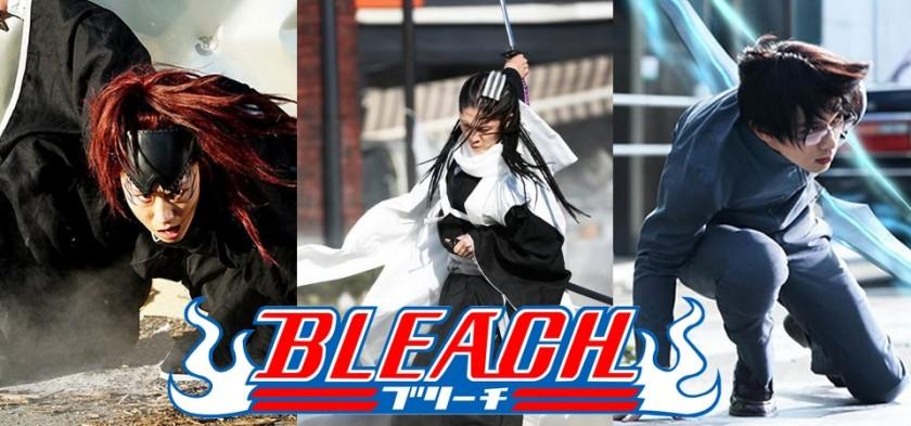 Primeiras fotos oficiais de Byakuya, Renji e Ishida em Bleach Live Action