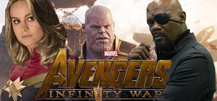 Capitã Marvel e Nick Fury na Cena Pós-Créditos de Vingadores - Guerra Infinita