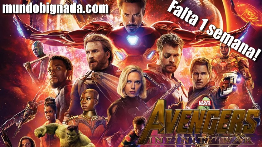 Falta 1 semana para Vingadores - Guerra Infinita - BIGNADA ANÚNCIO