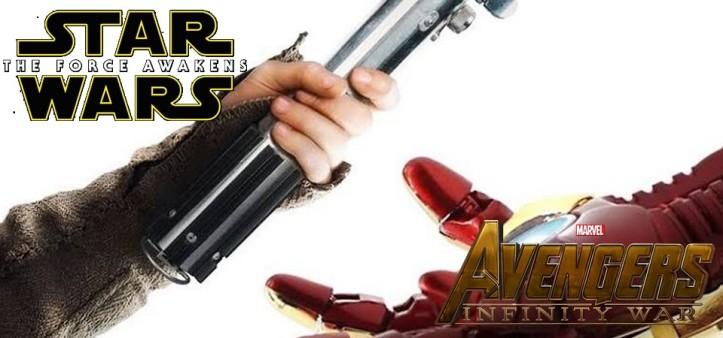 Lucasfilm parabeniza Marvel Studios por Vingadores - Guerra Infinita superar Star Wars - O Despertar da Força