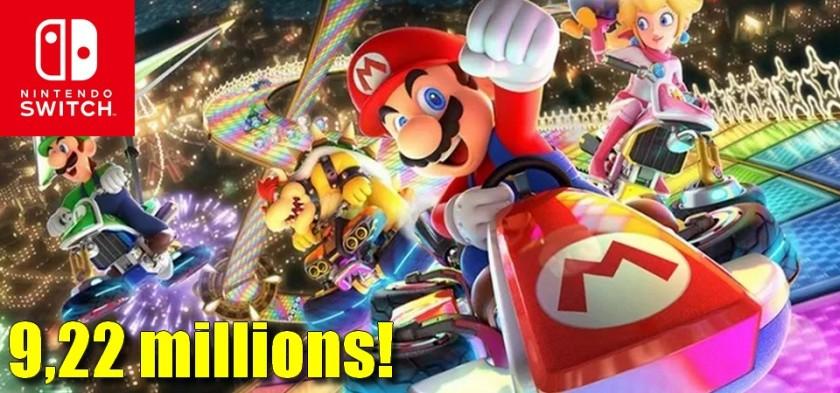 Mario Kart 8 Deluxe ultrapassa 9,22 milhões de unidades vendidas