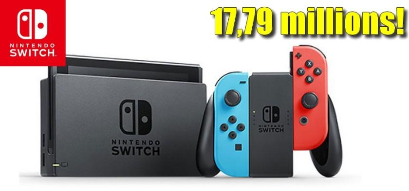 Nintendo Switch vendeu 17,79 milhões de unidades