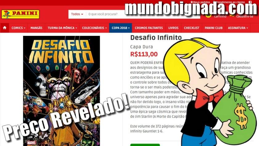 Preço do Desafio Infinito Encadernado da Panini é Revelado - Bignada News
