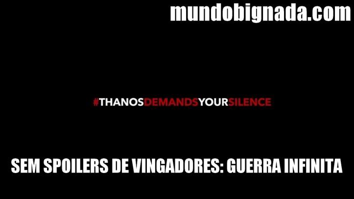 Sem Spoilers de Vingadores - Guerra Infinita - BIGNADA AVISO