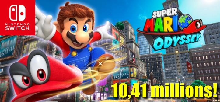 Super Mario Odyssey ultrapassa 10,41 milhões de unidades vendidas