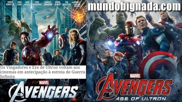 Vingadores e Vingadores Era de Ultron de volta nos cinemas do Brasil - BIGNADA NEWS