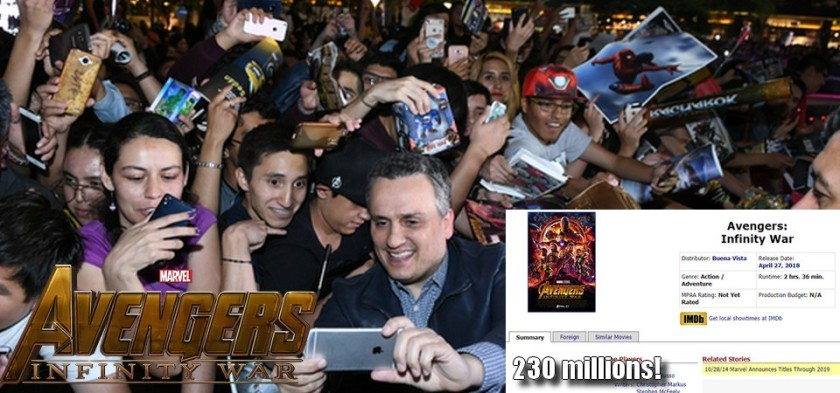Vingadores - Guerra Infinita deve estrear com 230 milhões de dólares de bilheteria