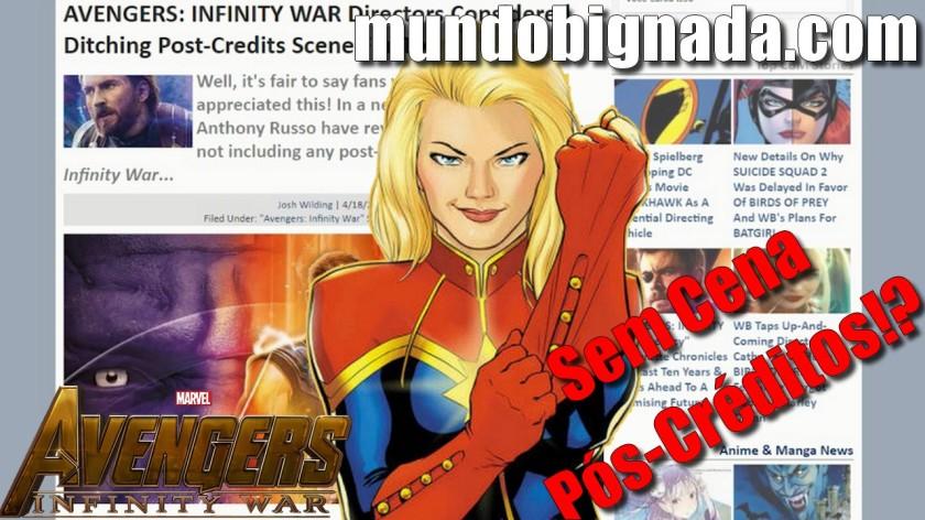 Vingadores - Guerra Infinita quase não teve Cena Pós-Créditos - BIGNADA NEWS