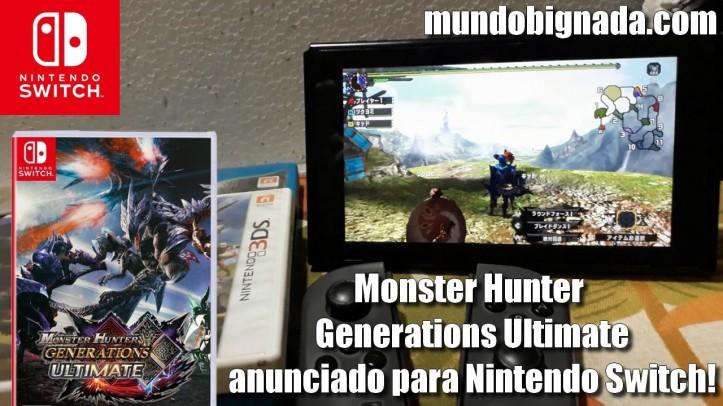 AÍ SIM! Monster Hunter Generations Ultimate anunciado para Nintendo Switch - BIGNADA COMENTA