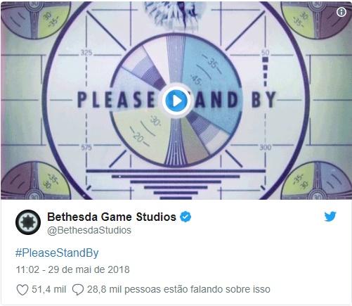 Fallout Teaser E3 2018 Bethesda Twitter