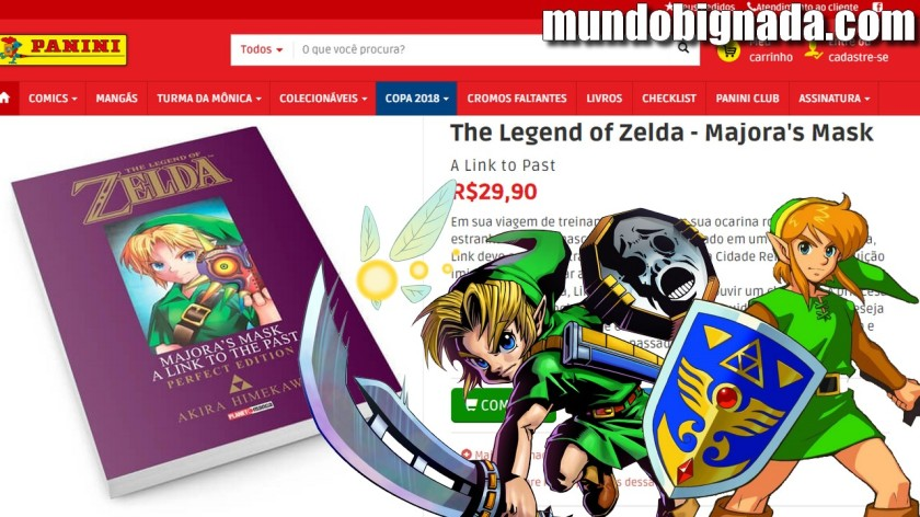 Majora´s Mask A Link to the Past Mangá de Zelda anunciado pela Panini - BIGNADA NEWS