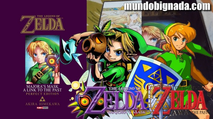 Majora´s Mask A Link to the Past Mangá de Zelda em mãos - BIGNADA COLLECTION