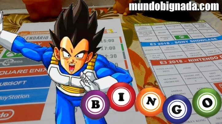Calendário e Cartelas de Bingo da E3 2018 - BINGONADA