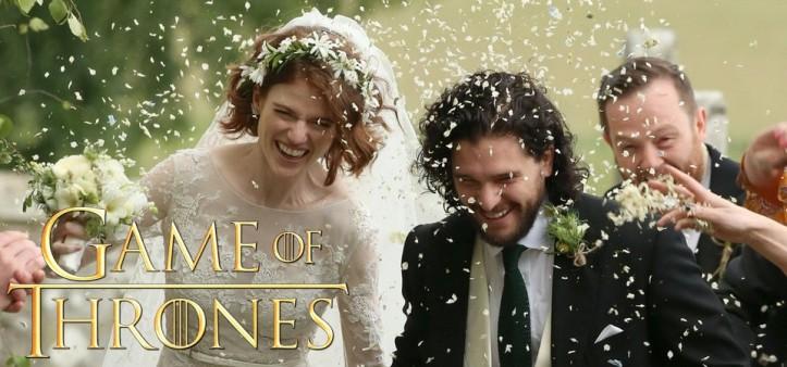 Casamento do Jon Snow (Kit Harington) e Ygritte (Rose Leslie) de Game of Thrones