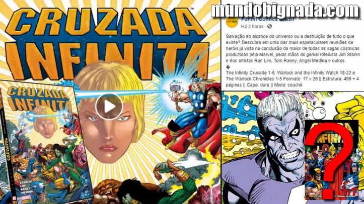 Cruzada Infinita anunciado pela Panini! Pularam Guerra Infinita! BIGNADA NEWS