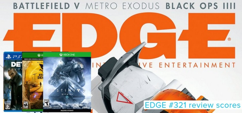 Edge #321 - Review Scores - Detroid - Become Human, State of Decay 2, Destiny 2 - Warmind