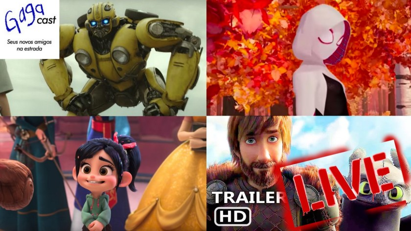Gagacast - Hangout #13 - Bumblebee, Wifi Ralph, Lego 2, Aranhaverso e Como Treinar seu Dragão 3