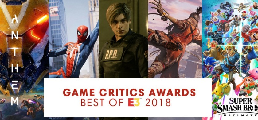 Game Critics Awards - Best of E3 2018 - List of Nominees