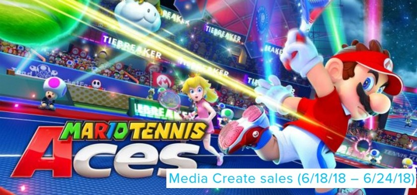Mario Tennis Aces lança no topo das vendas do Japão - Media Create Sales