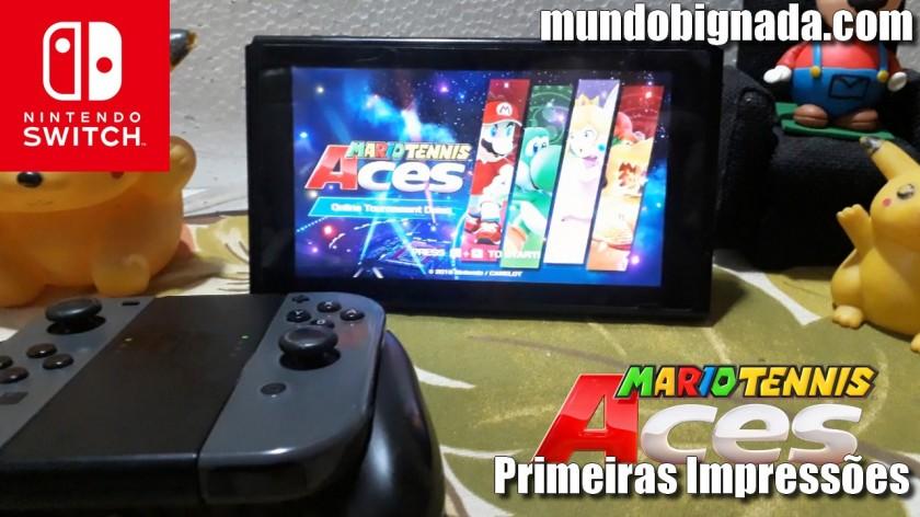 Mario Tennis Aces - Primeiras Impressões (Lag, Competitividade e Diversão) - BIGNADA COMENTA