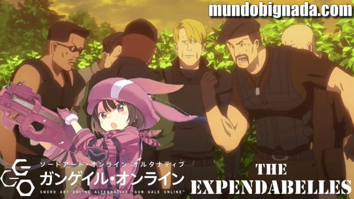 Mercenários (Expendables) são mortos no anime Sword Art Online Alternative Gun Gale Online - BIGNADA LEGENDS