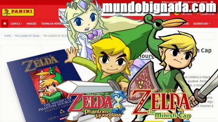 Minish Cap Phantom Hourglass Mangá de Zelda anunciado pela Panini - BIGNADA NEWS