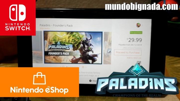 Paladins já disponível na eshop americana do Nintendo Switch - BIGNADA COMENTA