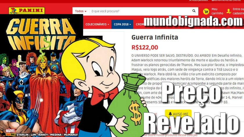Preço de Guerra Infinita Encadernado da Panini é Revelado - BIGNADA NEWS
