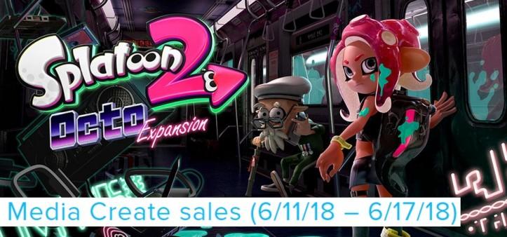 Splatoon 2 on the Top! Media Create Sales (6-11-18 – 6-17-18)