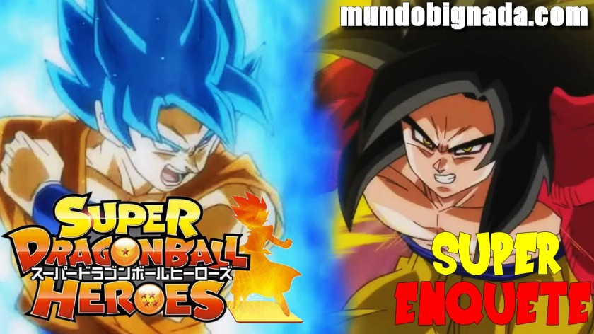 Super Enquete - Goku SSJ Blue Vs. Goku SSJ4 - Quem vencerá em Super Dragon Ball Heroes