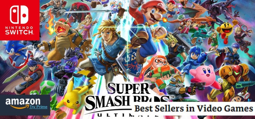 Super Smash Bros Ultimate continua o jogo mais vendido da Amazon
