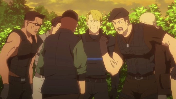 Sylvester Stallone e Mercenários (Expendables) em Sword Art Online Alternative Gun Gale Online