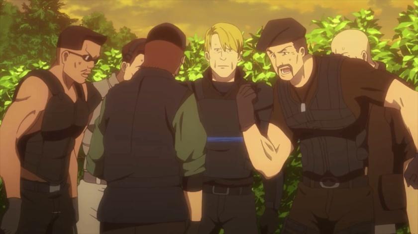 Sylvester Stallone e Mercenários (Expendables) em Sword Art Online Alternative Gun Gale Online