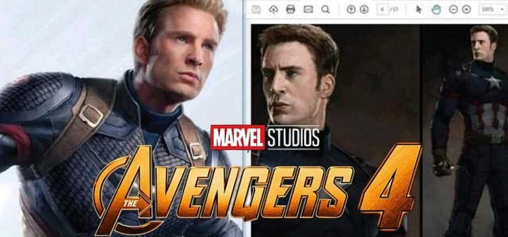 The Avengers 4 - Vazam artes conceituas do Capitão América