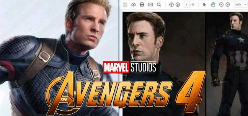 The Avengers 4 - Vazam artes conceituas do Capitão América