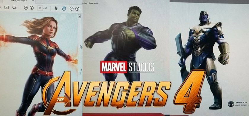 The Avengers 4 - Vazam artes conceituas do filme