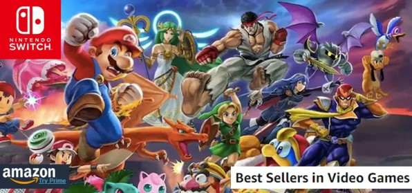 Amazon Best Sellers (07 22 18) - Super Smash Bros volta a reinar! Xbox One S vendendo no topo
