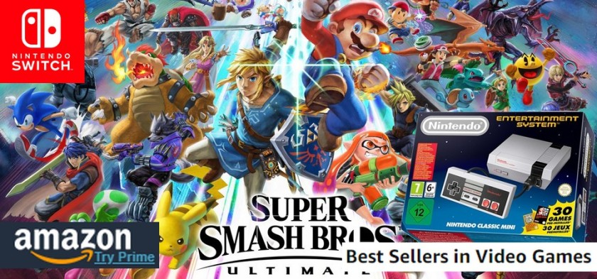 Amazon Best Sellers Games (07 29 18) - Super Smash Bros reina! Nes Classic Mini no topo