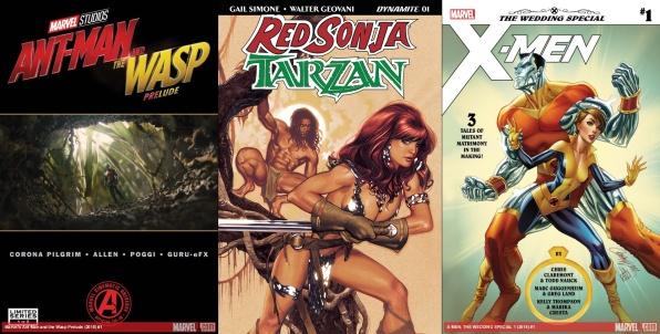 Destaques do Porco-Aranha #6 - Homem-Formiga e Vespa - Prelúdio, Red Sonja e Tarzan, X-Men Casamento