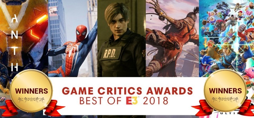 Game Critics Awards - Best of E3 2018 - List of Winners