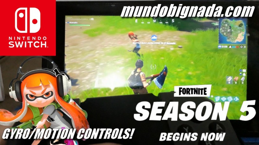 Gyro Motion Controls no Fortnite do Nintendo Switch - BIGNADA COMENTA