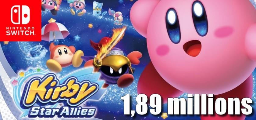 Kirby Star Allies ultrapassa 1,89 milhões de unidades vendidas
