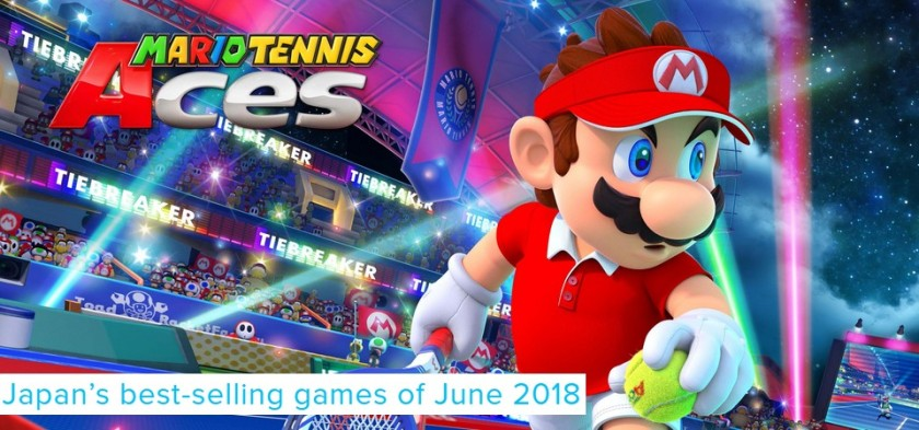 Mario Tennis Aces é o game mais vendido no Japão em junho de 2018