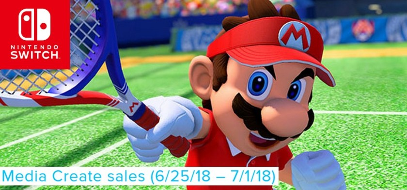 Mario Tennis Aces continua no topo das vendas do Japão - Media Create Sales
