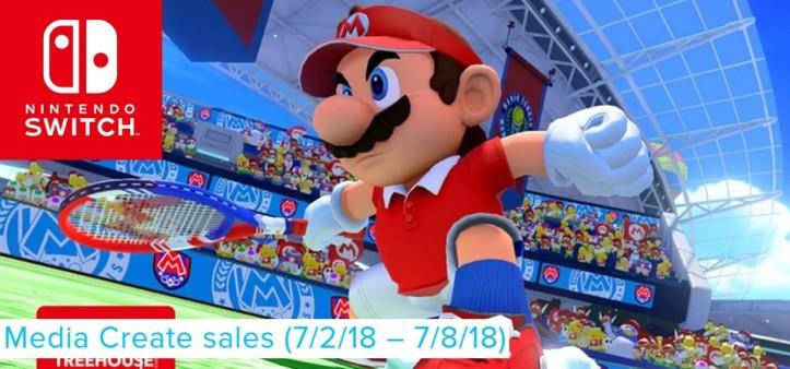 Mario Tennis Aces domina as vendas do Japão pela terceira semana seguida - Media Create Sales