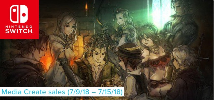 Media Create Sales (7 9 18 – 7 15 18) Octopath Traveler domina as vendas do Japão!