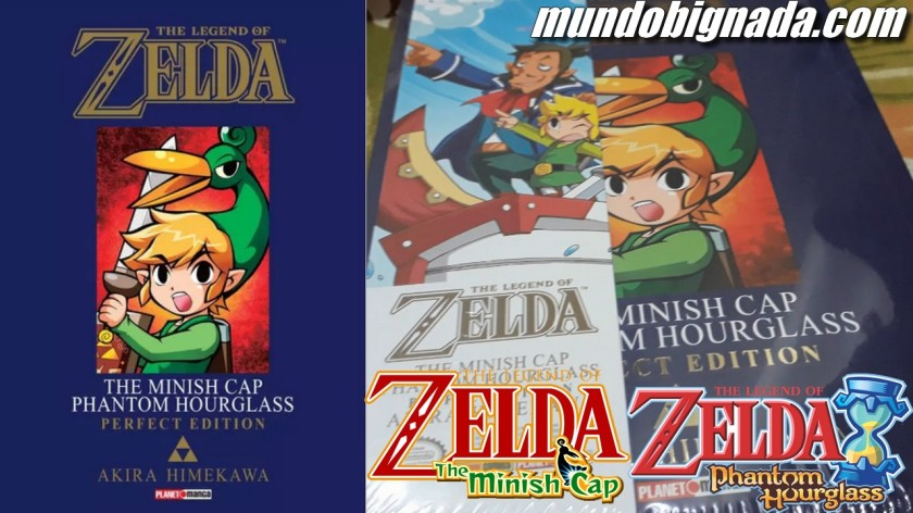 Minish Cap Phantom Hourglass Mangá de Zelda Em Mãos - BIGNADA COLLECTION